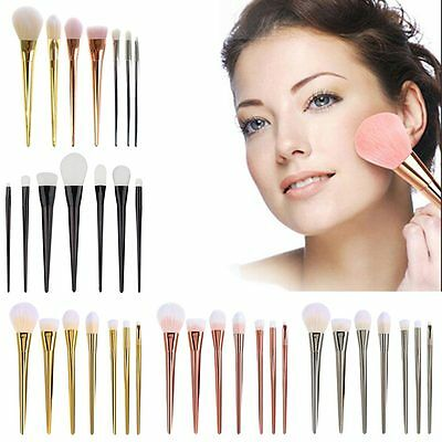 7Pcs Professional Makeup Cosmetic Powder Foundation Eyeshadow Brushes Set Tool