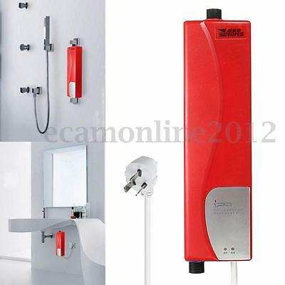 Mini Instant Electric Tankless Hot Water Heater Kitchen Bathroom Sink Tap Faucet. 5500W Mini Instant Electric Hot Tankless Water Heater System Tap