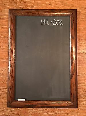 Antique Vintage Chalkboard Message Restaurant Solid Oak Wood School Slate