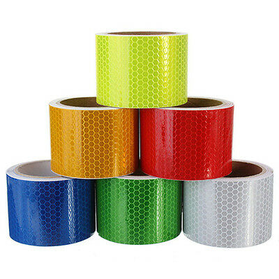 3m X 50mm High Intensity Safety Reflective Tape Red Self Adhesive Vinyl Retro