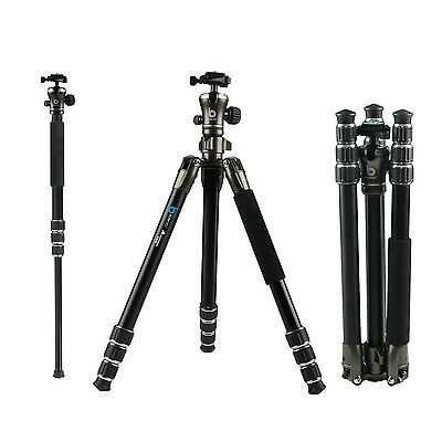 BONFOTO B671A Professional Aluminum Monopod Tripod  Ball head For DSLR Camera