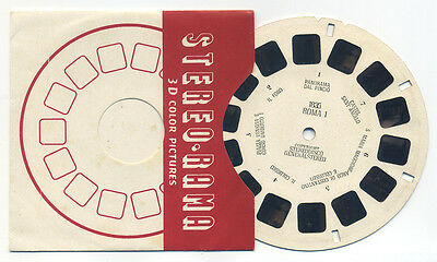 ROMA Rome I Italy Made in Italy StereoRama ViewMaster Reel I-1835