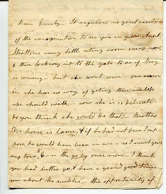 Unknown Historical Hand Written Rare Signed Autograph Letter