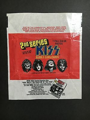 Kiss Trading Card Wrapper 2Nd Series From 1978