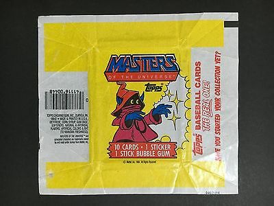 Masters Of The Universe Trading Card Wrapper From 1984 By Topps