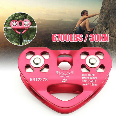 30KN Zip Line Cable Trolley Dual Pulley Fast Speed for Outdoor Climbing Hauling