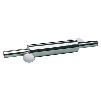 """Norpro 19"""" Stainless Steel Rolling Pin Professional Includes Nylon Ball Bearings"""