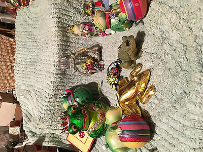Christmas tree ornaments all Frog theme