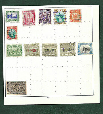 Guatemala MH and used old stamps on page