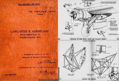 AVRO LANCASTER WW2 MAINTENANCE MANUAL RARE ARCHIVE 1940's PERIOD DETAIL HISTORIC