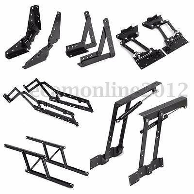 1Pair Lift Up Top Coffee Table Sofa Bed Frame Furniture Mechanism Hinge Hardware