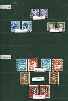 USA & UN NATO and other stamps MNH and used