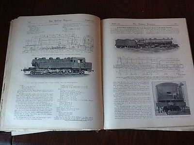 1913 12 volume bound the railway engineer 400 pages illustrations steam train