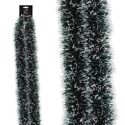 Christmas Tree Room Decoration Snow Tipped Tinsel - 1 Length x 3 Metres