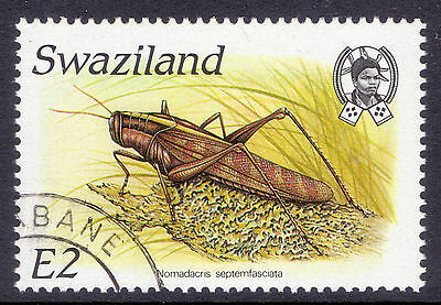 SWAZILAND 1988 stamp 2 E Locust from Insects fine used (CTO)