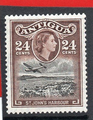 ANTIGUA  QE2 1953 24c black&choc. sg 129 LH.MINT