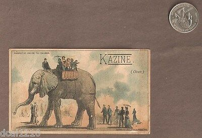 Vintage Trade Card advertising paper KAZINE SOAP ELEPHANT