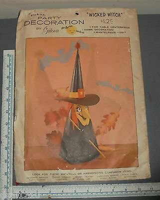 Vintage Gibson Witch Halloween Honeycomb Centerpiece NOS USA