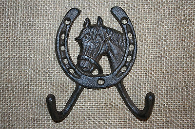 (8), WESTERN DBL. WALL HOOK,horses,ranch, country decor,home decor,garden, W-5