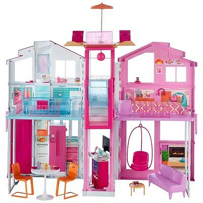 Barbie Pink Passport Deluxe 3-Story Townhouse