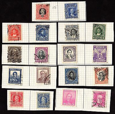 Stamps ~ CHILE SOUTH AMERICA  Hinged  Postmarks ~ Early Classic UNSORTED