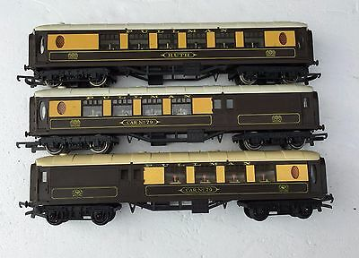 3 Triang Hornby Oo Gauge Short Pullman Coaches  Unboxed