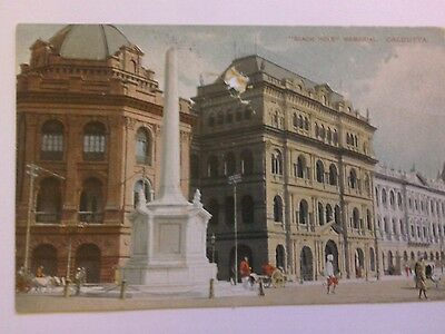 "A Postcard of The ""Black Hole"" Memorial Calcutta.Posted Hereford 1913."