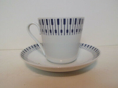 1960s Danish Modern Lyngby Danmark Tangent pattern Cup and Saucer