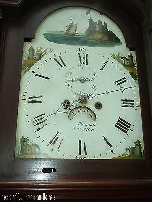 Grandfather Clock   8 day  by PLummer  Norwich 1875 gwo 1 year warranty