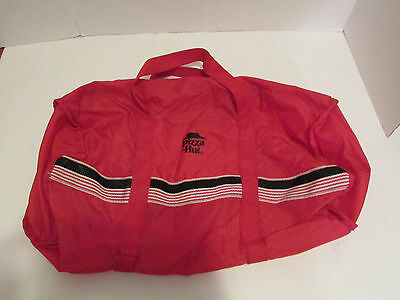 Pizza Hut Red Zip Duffle Bag With Logo Retro VIntage 1980's