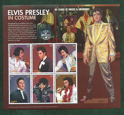 The Gambia unmounted mint Elvis Presley minisheet MNH