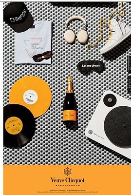 Veuve Clicquot Music Poster 24 By 36 Inch New