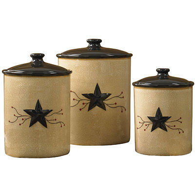 Black Star Country Canister Set by Park Designs