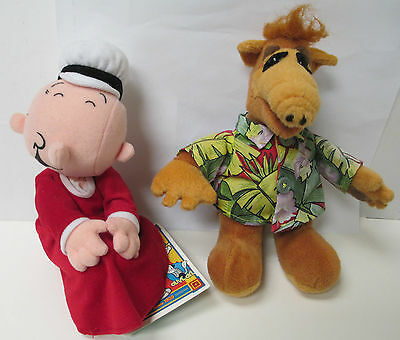 Collectible Alf And Classic Popeye Swee'pea Stuffin Plush Toys/stuffed Animals