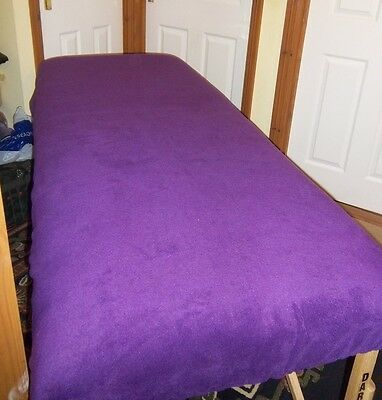 "Massage Table Cover To Fit 27"" Width - Colour Purple Fleece"