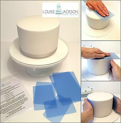 FLEXI CAKE SMOOTHER SET for sharp edges and perfect finish + video tutorial link
