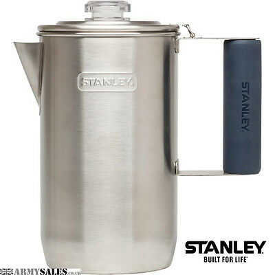 Stanley Steel ADVENTURE PERCOLATOR 1.1QT 6 Cup for Coffee Campfire or Stove