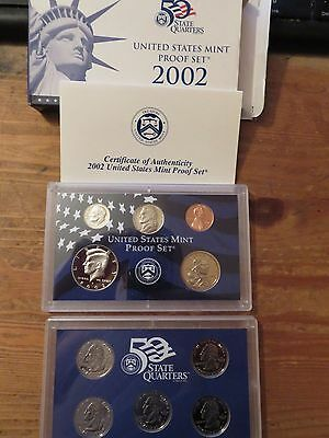 2002 US Mint  Proof Coin Set - Boxed & COA,10 coins