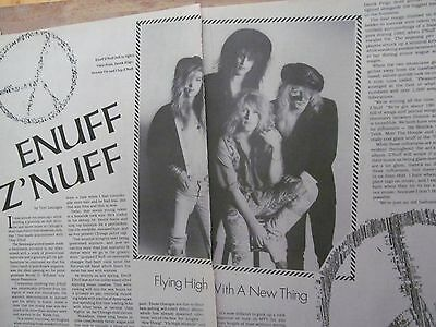 Enuff Z'Nuff, Two Page Vintage Clipping