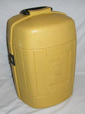 Vtg Coleman Carrying Case Gold Clamshell March 1978