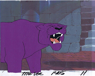 He-Man Masters of the Universe Original Animation Cel & Copy Bkgd #A12649