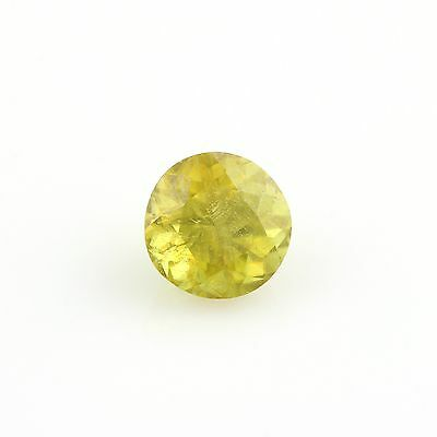 1.60ct Loose Sphene Gemstone - Round Greenish Yellow