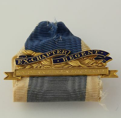 Daughters of the American Revolution Ribbon - 14k Yellow Gold Ex-Chapter Regent