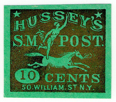 (I.B) US Local Post : Hussey's Special Message Post 10c