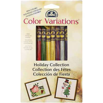 DMC Color Variations Floss Pack-Holiday 8/Pkg 077540405060