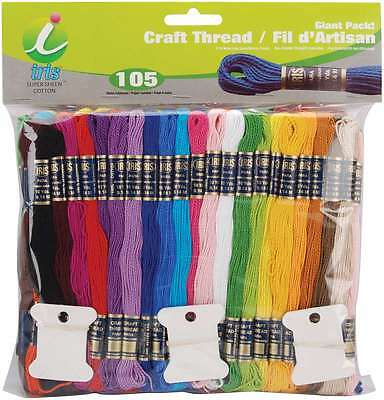 Craft Thread Giant Pack 9.14 Meters 105/Pkg-Assorted Colors 075182912458