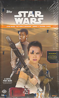 2016 Topps Star Wars The Force Awakens Series 2 Trading Card Box - Hobby Version