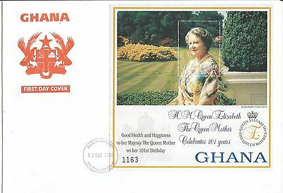 One Penny Arcade  A Nice Ghana 2001 Queen Mother's 101st MS Cover
