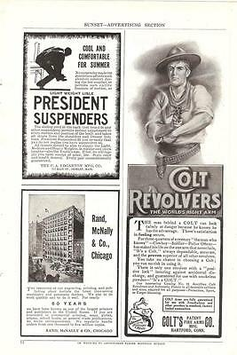 Cowboy Colt Revolver 1908 Ad Oppenheimer Treatment Cures Alcoholism Disease