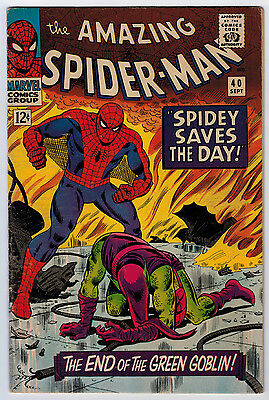 Amazing Spider-Man #40 4.5 Origin Of Green Goblin Off-White Pages Silver Age